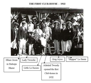 Admiral Tweedie opens first Clubhouse 1932