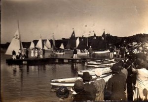 General scene with rowing boats for hire