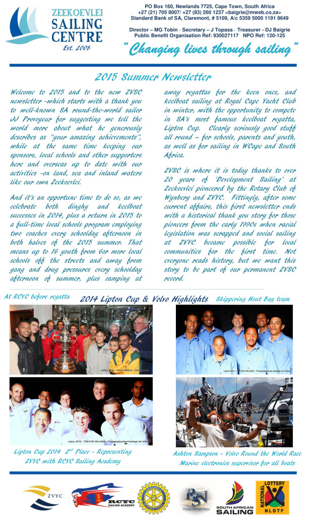 ZVSC Newsletter March 2015v5pg1 - ver 2